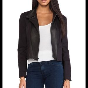 Theory black moto jacket